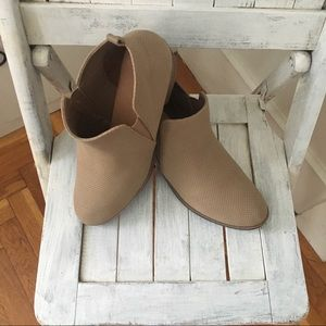 Rampage size 10 booties taupe heels
